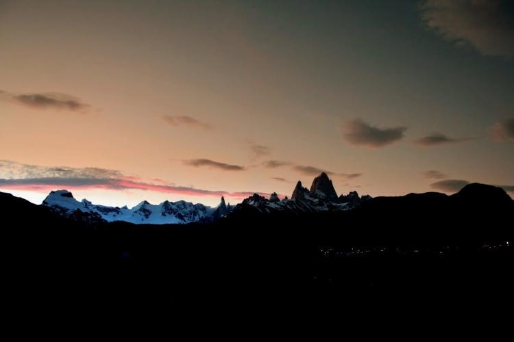 Foto del Cerro Fitz Roy delante el Chaltén