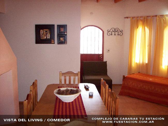 interiorlivingcomedor001 Cabañas Tu Estación