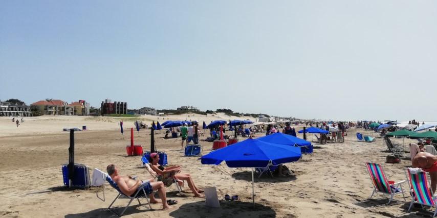 Playa cercana mes de Enero